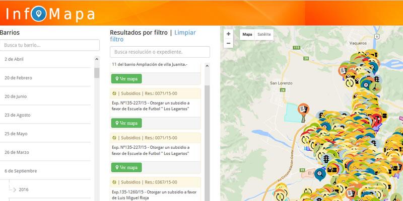 Concejo Deliberante de Salta: Info Mapa